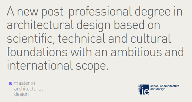 ie master in architectural design - click to visit official page