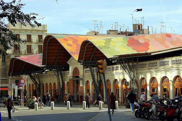 Mercado de Santa Caterina en Barcelona - foto por Montse Poch - clic para ver original en  flickr