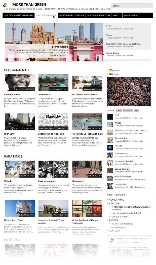 Click to visit morethangreen.es