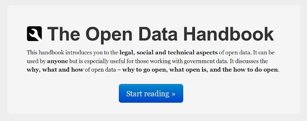 Open Data Handbook - ver online
