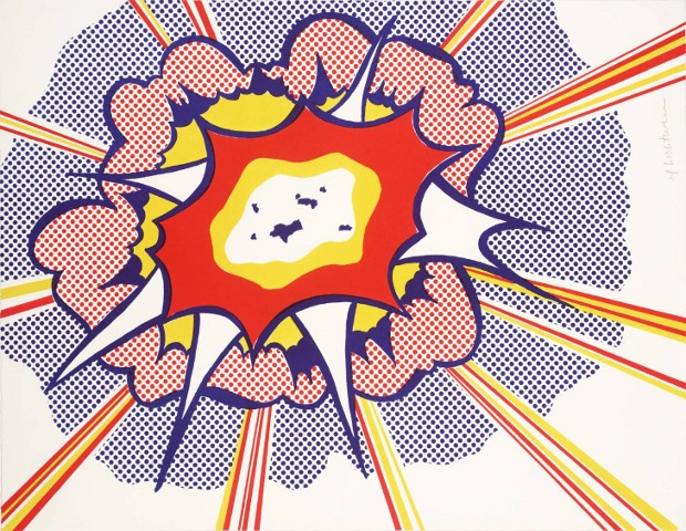 Explosion 1965-6 by Roy Lichtenstein 1923-1997