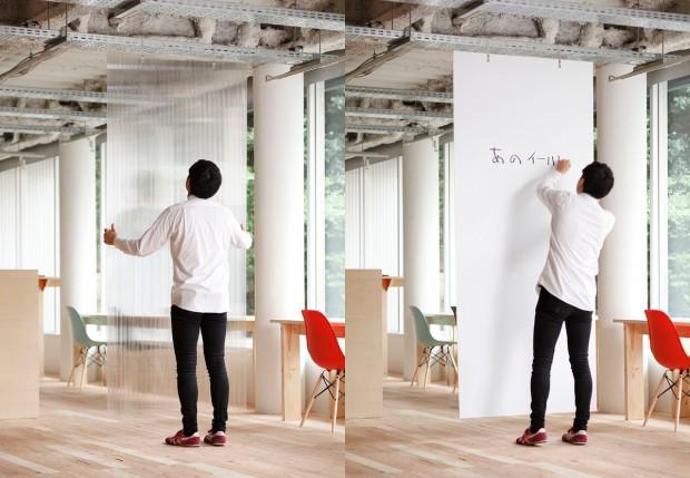 Paneles divisorios modulares en Mozilla Factory - Foto y diseño por Nosigner