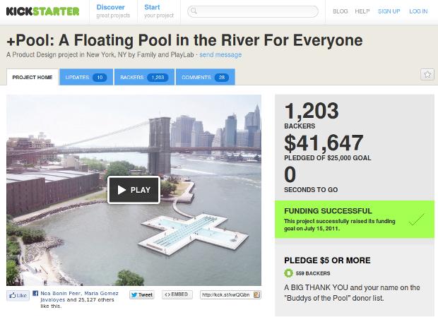 Plus pool en Kickstarter