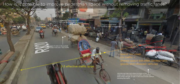 Analysis of the use of streets in Dhaka, Bangladesh, by Ecosistema Urbano