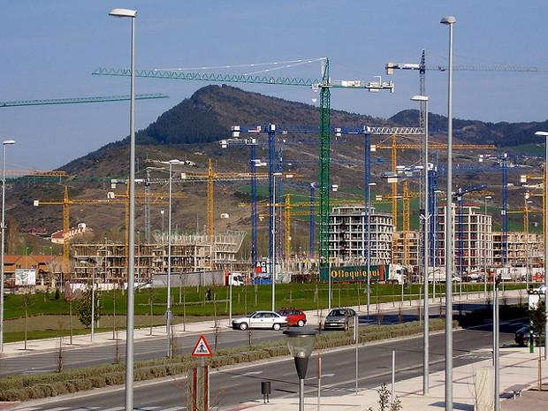 Ecobarrio en construcción