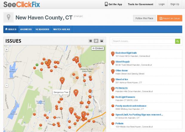 SeeClickFix - Map view