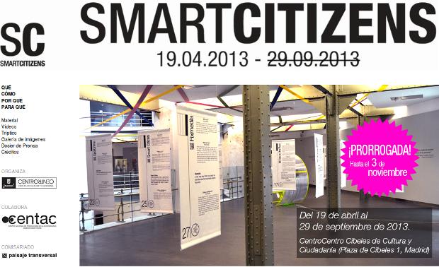 #SmartcitizensCC - Exposición abierta, clic para ir a la página