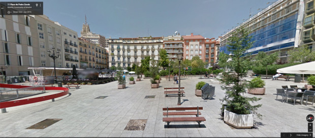 Plaza Vázuqez de Mella hoy. Foto: Google Maps