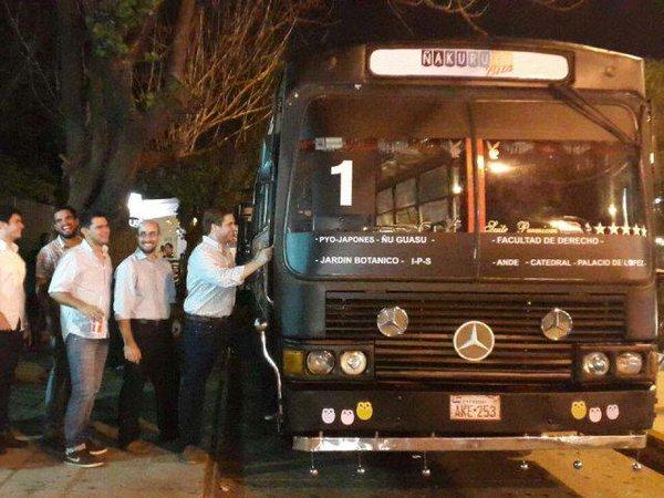 Ñakurutu Bus en Asunción, Paraguay. Foto: Ultima Hora