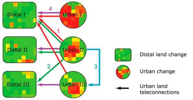 Urban Land Teleconnections